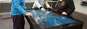 An interactive table helps to exercise the cognitive stimulation in patients with Multiple Sclerosis