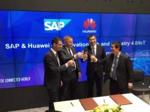 Huawei en CeBIT 2015 acuerdo SAP