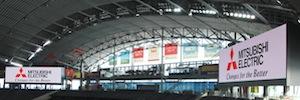 Mitsubishi muestra en Sapporo Dome la resolución del black Led de sus pantallas Diamond Vision