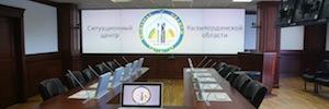 Los cubos DLP de Mitsubishi mejoran la comunicación entre los centros de gestión de Kazajstán