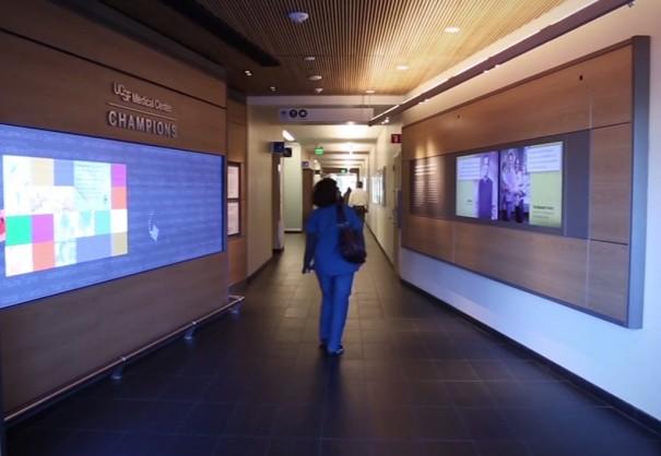 Prysm y Sensory videowall en el UCSF