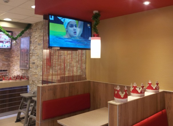 Musicam Digital Signage Burger King