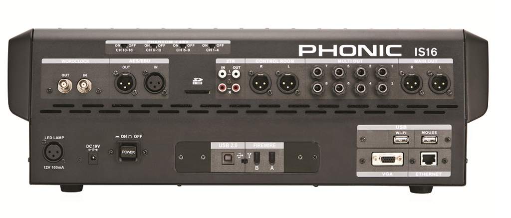 phonic is16 digital mixer for studies and scenarios. Black Bedroom Furniture Sets. Home Design Ideas