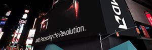 AMD en el corazón de la pantalla más grande de Nueva York, en Times Square