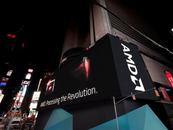 AMD en pantalla Times Square