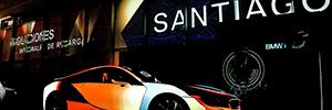 Un videomapping dio la bienvenida en Chile a los nuevos coches i3 e i8 de BMW