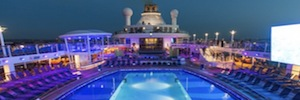 The luxury cruise ship ' Quantum of the Seas' lights up the ocean with Elation Led technology