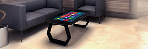 Zytronic Mozayo: interactive multitouch technology table PCT