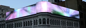 El soporte visual Led del Mellon Independence Center redefine la publicidad DooH en Filadelfia