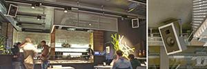 Los altavoces de Garvan se integran en el vanguardista diseño del restaurante QR Food