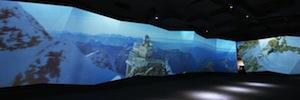 Alpine Sensation: proyección inmersiva con sistemas de Panasonic en la cima de Europa