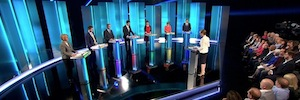 Riedel MediorNet and Artist, technological characters of the British election debate