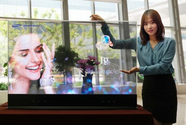 Samsung pantalla transparente Oled