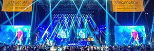 Elation ilumina el festival de música country Stagecoach con sus sistemas Platinum