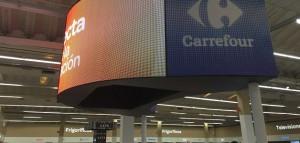 Led&Go pantalla curva Carrefour Alcobendas