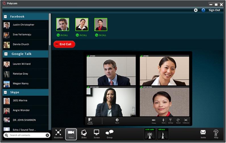 Reuniones de skype web