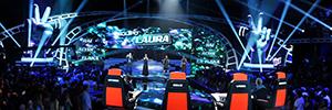 El programa televisivo 'La Voz' utilizó la tecnología de iluminación de Robe para su tercera temporada