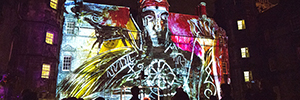 Animotion, show where the projection merges art and, again Edinburgh