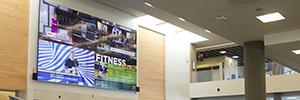 Un videowall de Barco informa de las actividades deportivas a los estudiantes de Riverside