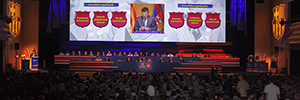 Eikonos debuts the Christie 30,000 lumen 4K Boxer in Congress of FC Barcelona