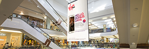 A NanoLumens screen provides additional income to an Australian shopping center