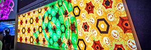 Christie expone por vez primera en IBC una gama de mosaicos Led Velvet