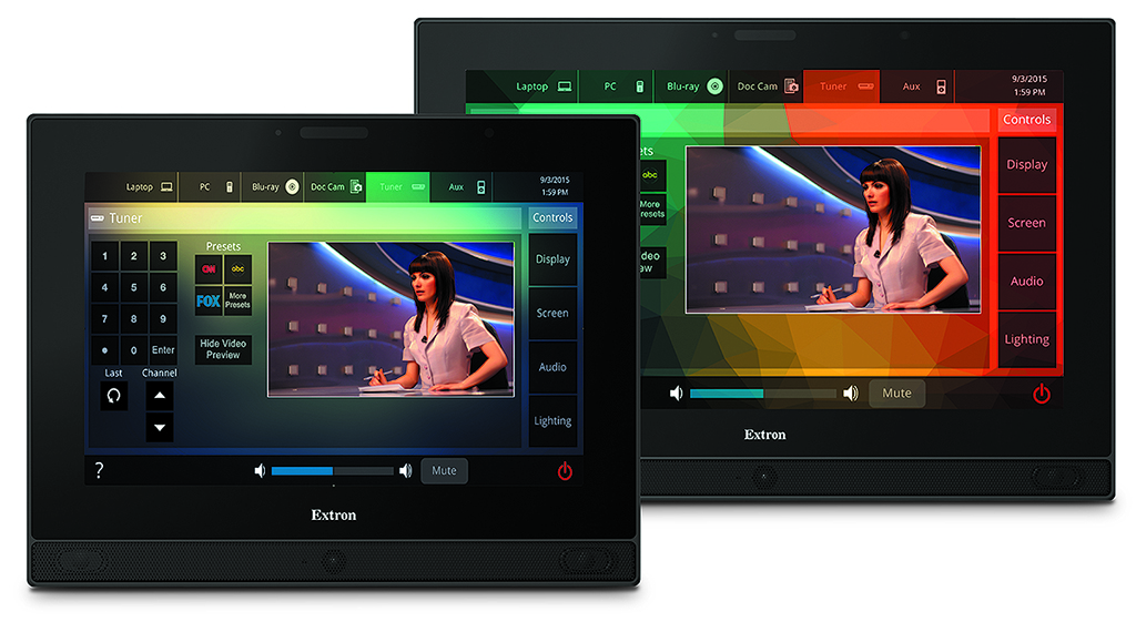 Touchscreens Extron TLP Pro 12 and 15 inches for