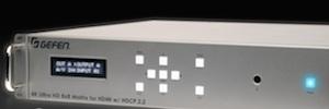 Gefen ofrece en su nueva matriz conmutación 4K Ultra HD y compatibilidad HDCP 2.2