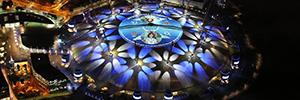 El O2 Arena de Londres ofrece la proyección más amplia en intensidad lumínica
