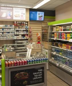 Samsung Signagelive und Kette Convenience Litauen