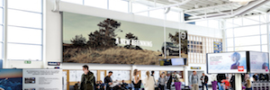 LED screens Absen star commercial messages in three Norwegian airports