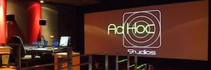 AdHoc commitment Studios Sony 4K digital projection room for postproduction