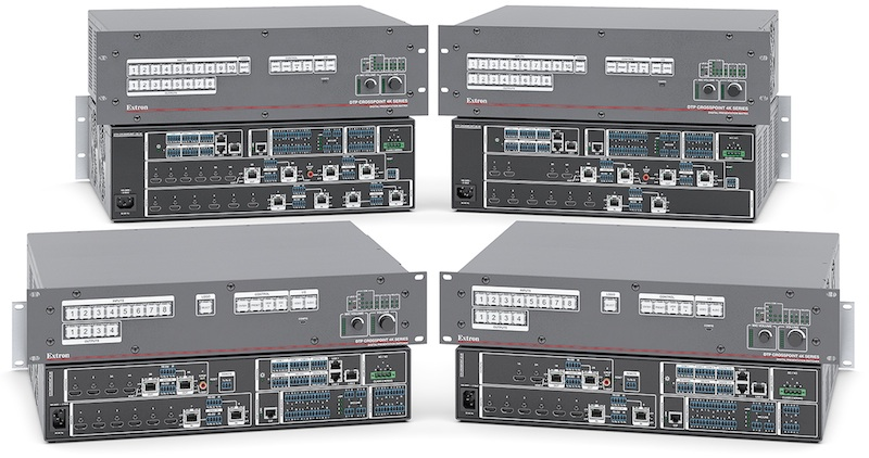 Extron expands switching matrices CrossPoint DTP three new 4K