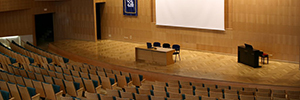 The Hall of the CEU San Pablo de Sevilla is voiced with Work Pro