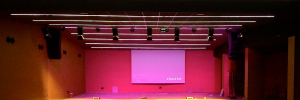 The Auditorium of the Enclave of the wall is voiced with high, Allen & Heath, Apart and Crest