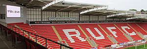 The club Rotherham United opens a new source of income thanks to the signage digital
