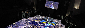 Energy Space fuses art, energy and innovation in an interactive projection on floor