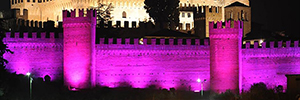 The castle of Gradara wrapped with its medieval magic and DTS in the Notte Rosa