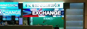 La oficinas de Exact Change publicitan sus servicios con soportes Led de gran formato