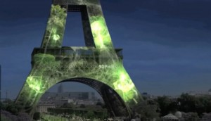 Torre Eiffel bosque virtual