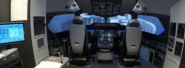 Eyevis en Aeromexico simulador Boeing 787
