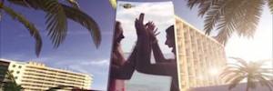 Одиссея Ибица: экран внешнего вогнутой светодиодов, более большой мира в Hard Rock Hotel Ibiza