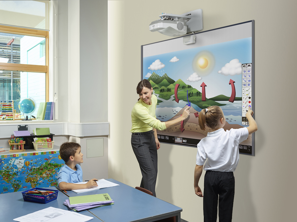 Collaborative Classroom Software ~ The epson interactive projectors integrate smart