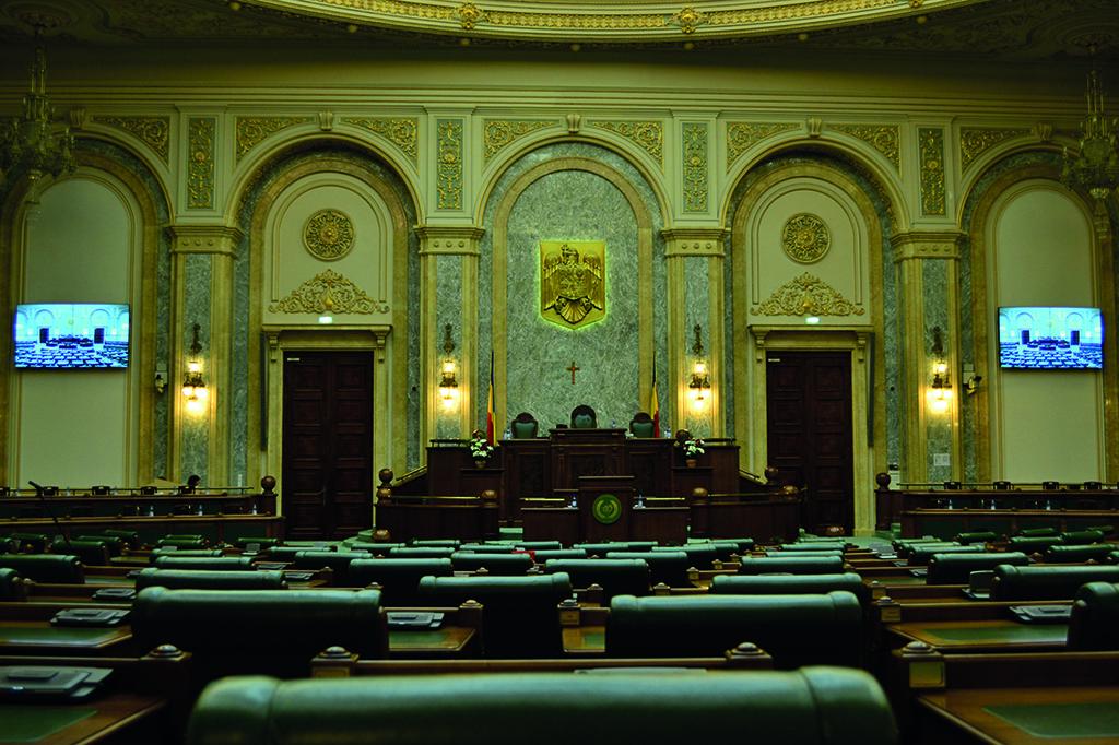 El parlamento de ruman a instala dos videowalls de eyevis for Streaming parlamento