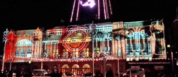 Panasonic mapping Blackpool Illuminations 2015