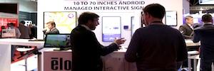 """Elo Touch, interactividad en señalización digital de 10 a 70"""" en ISE 2016, ahora bajo Android"""