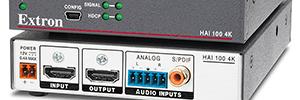 Extron HAI 100 4K flexibiliza la integración del audio en señales HDMI para aplicaciones AV