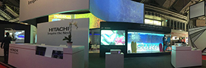 Hitachi displays at ISE 2016 their developments of phosphor led projection