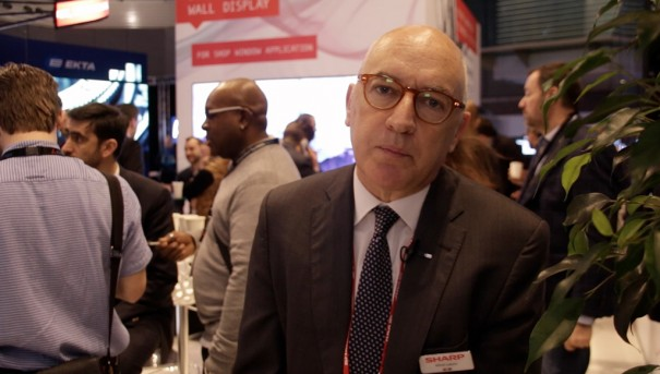 Sharp en ISE 2016 Alfred Lozano, Visual Solution Manager