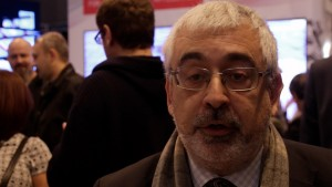 Sharp en ISE 2016 Juan Antonio Marco, director comercial